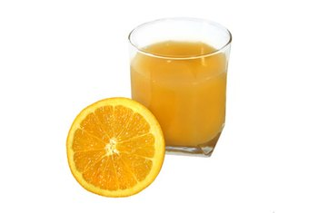 Orange juice contains a number of essential vitamins and minerals.