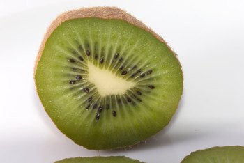 Kiwi contains the nonheme form of iron.