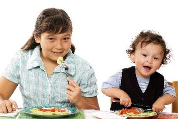 Teach nutrition by setting a good example and getting children involved.