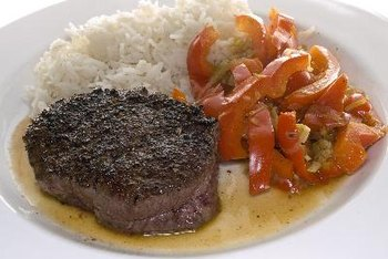 Steak has a high cholesterol content.
