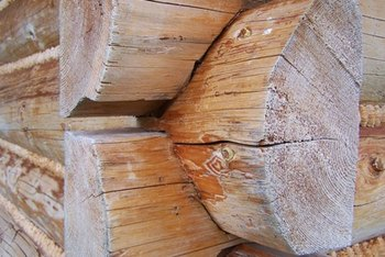 Homes constructed of split logs have a unique, rustic appearance.