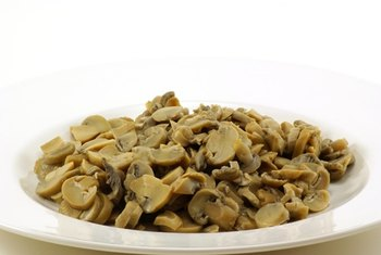 Cooked mushrooms are lower in most nutrients than raw mushrooms.