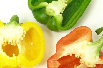 Bell peppers are a good source of soluble fiber.