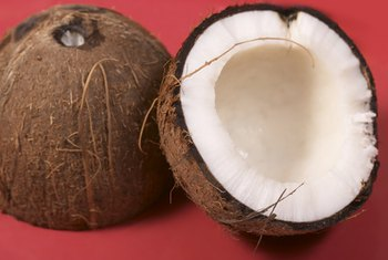 Coconut oil is extracted from the white flesh of the coconut.