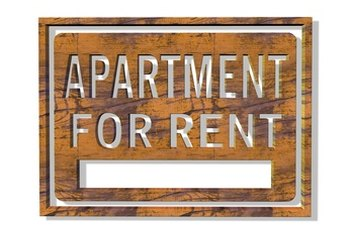 Rental sign for an apartment