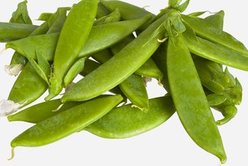 Snacking on snap peas is a healthy way to get a little protein.