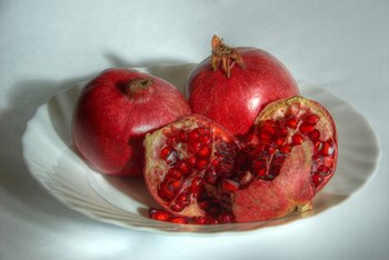 Pomegranates are higher in protein than most fruits.