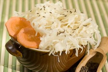 Sauerkraut has the nutrients of cabbage but with an excess of sodium.