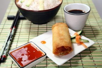 Egg rolls contain a lot of calories and are not the best option for dieters.
