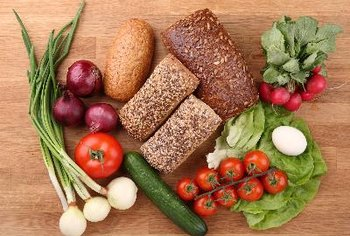 Whole grains and vegetables help keep blood sugar levels down.