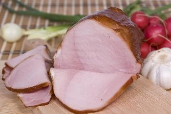 Ham contains potassium, but is also high in salt.