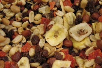 Trail mix is a healthy snack that is high in potassium and dietary fiber.
