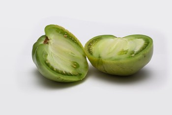 Green tomatoes are low in calories and high in vitamins.