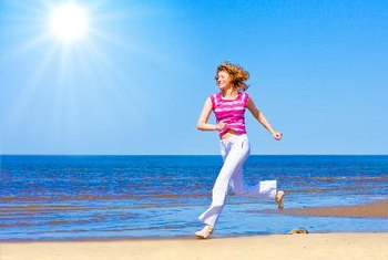 Getting a little sunshine helps boost your vitamin D levels.