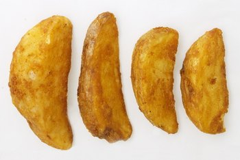 Homemade potato wedges are simple to make.