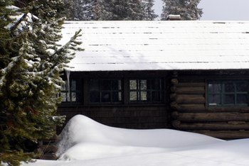 Sturdy construction helps cabins survive long winters.