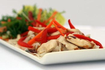 Make teriyaki chicken with chicken breast and low-sodium teriyaki sauce for a healthier version.