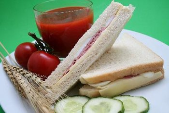 Sandwiches can be part of a healthy lunch.