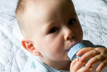 Most young babies get sufficient calories from breast milk or infant formula.