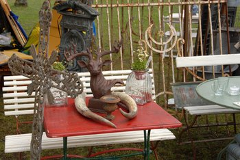 Flea markets are fantastic sources of fun, inexpensive home furnishings.