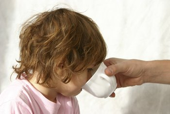 Keeping your child hydrated requires small amounts of fluid given frequently.