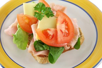 A ham and cheese sandwich is rich in protein and vitamins.