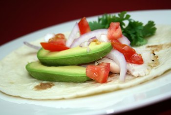 Avocados are a delicious and healthy topping at a Mexican restaurant.