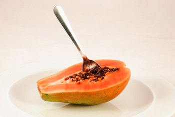 Raw papaya straight from the peel is a delight for the taste buds.