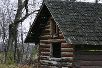 A rustic log cabin can last for decades.