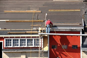 Roofing requires preparation and safety precautions.