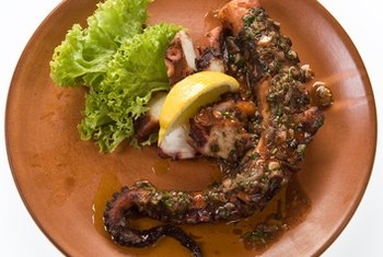 Octopus is lean and high in protein.