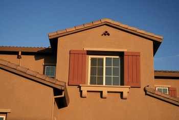 Earthtone colors are often used for contemporary homes.