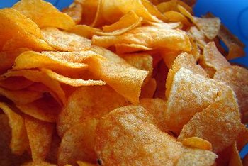 Potato chips are free of cholesterol.