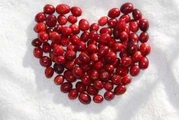 Cranberries and pomegranates both benefit your heart.