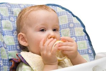 Your 7-month old will eat a variety of foods to provide adequate calorie intake.
