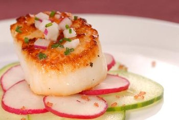 Sea scallops are the larger of the two varieties.