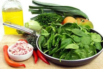 Green leafy vegetables have large amounts of vitamin K