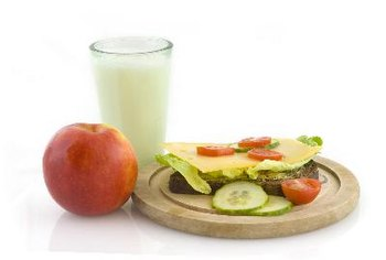Choose fruits, vegetables, breads and milk to increase your carbohydrate intake.