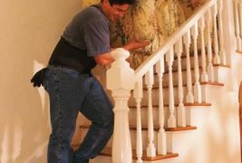 Rounded treads frequently wrap the outer edge of the staircase.
