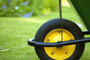 Heavy foot traffic and lawn equipment can wear away spots in your lawn.