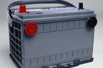 Lawn tractor batteries are smaller versions of auto batteries.