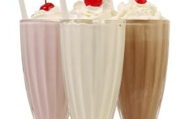 Milkshakes and malts are high in sugar.