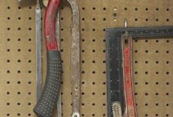 Pegboard serves many purposes beyond garage tool storage.