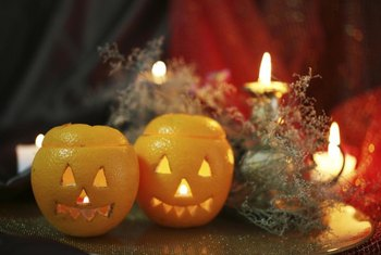 Incorporating everyday things with spooky decorations gives a realistic effect.