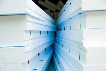 Extruded polystyrene insulation boards are available in different thicknesses.