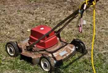 An electric mower requires an outdoor extension cord.