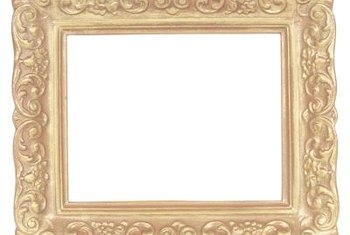 Vintage frames are versatile in shabby chic decorating.