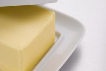The average American eats 26 grams of saturated fat, such as butter, a day.