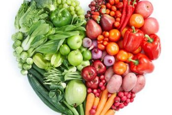 Fresh fruits and vegetables are good for your heart.
