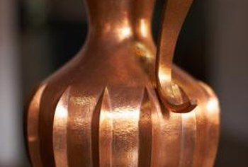 Copper plated items can develop tarnish without proper polishing.